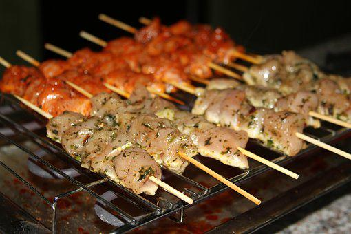 Barbecue, Skewer, Marinade, Chicken, White Chicken