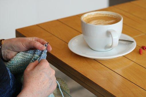 Coffee, Knitting, Wool, Coffee Break, Cloth, Drink