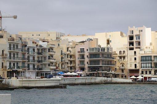 Gozo, Marsalforn, Buildings, Sea, Mediterranean, Europe