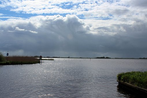 Friesland, More, Water, Wind, Clouds, Tourism, Holiday