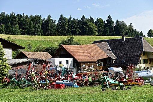 Junk, Farm, Implements, Rusty, Old, Dilapidated, Scrap