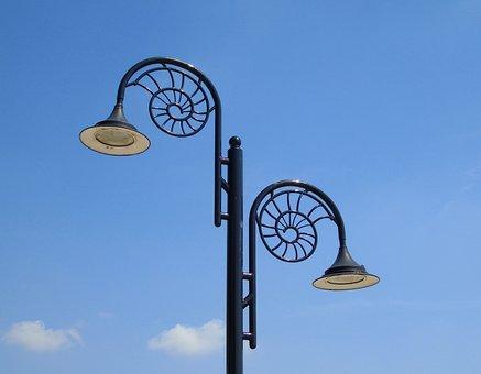 Street, Light, Jurassic, Coast, Lyme, Regis, Uk, Lamp