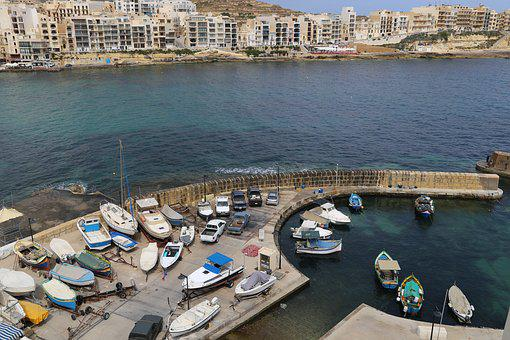 Gozo, Harbor, Malta, Sea, Europe, Travel, Island
