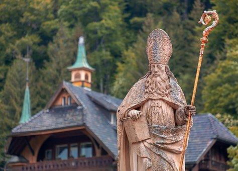 Sculpture, Manneken, Saint Blaise, Patron Saint, Church