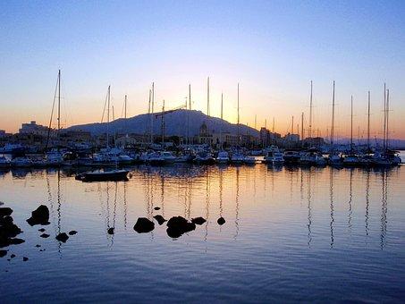 Italy, Sailing, Sunrise, Marina, Boating, Holiday