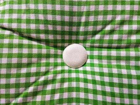 Pillow, Green, Checked, Room, Object
