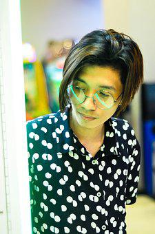 Korean, Philippines, Glasses, Polkadot, Portrait, Guy