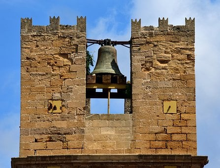 Bell, Steeple, Bell Tower, Sand Stone, Historically