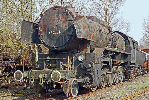 Steam Locomotive, Schrottlok, Br42, Br 42, Dr