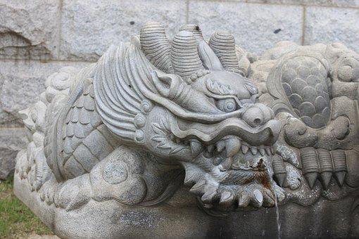 Water, Fountains, Stones, Temples, Granite Sculpture