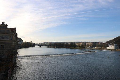 The Vltava River, Prague, Landscape, Czech Republic