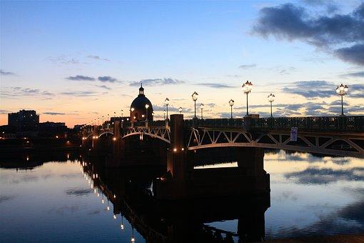 Bridge, Toulouse, Canal, Hautegaronne, Landscape