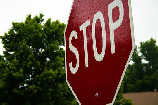 Stop, Sign, Stop Sign, Warning, Red, Road, Traffic
