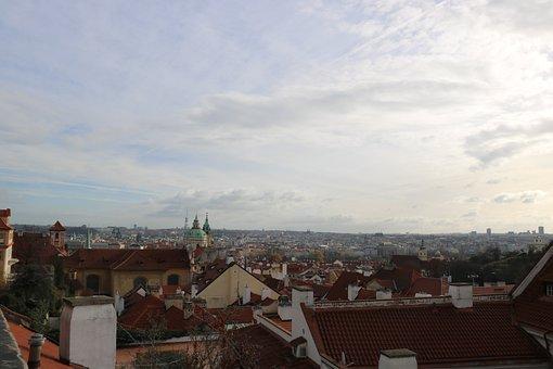 Prague, View, City, Bridge Carlo, The Vltava River