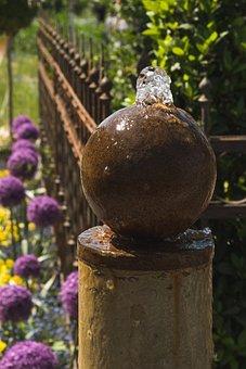 Garden, Water, Fountain