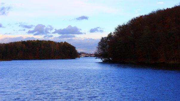 Lake, Evening, Water, Twilight, Landscape, Nature
