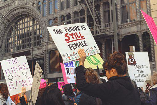 Women, March, 2018, Women's March, Feminist Feminism