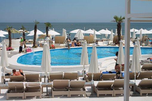 Pool, Tan, Beach, Black Sea, Ukraine, Odessa, Arcadia