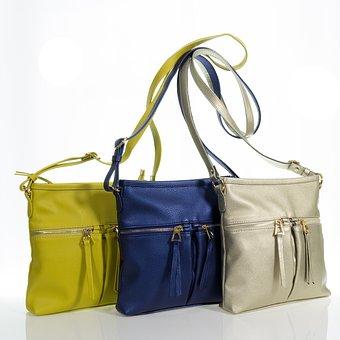Bag, Women, Yellow, Blue