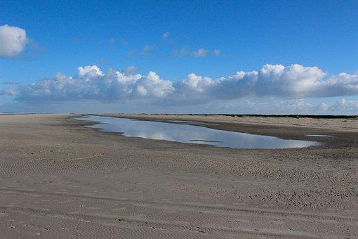 Schiermonnikoog, Beach, Clouds, Sea, Island, Wadden
