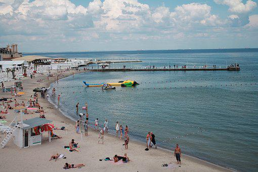 Beach, Vacation, Sun, Sea, Black Sea, Ukraine, Odessa