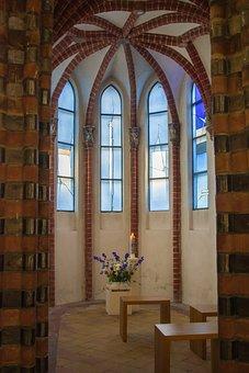Chapel, Blue, Church Window, Side Chapel