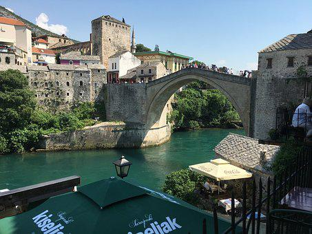 Mostar, Bridge, Bosnia, Herzegovina, River