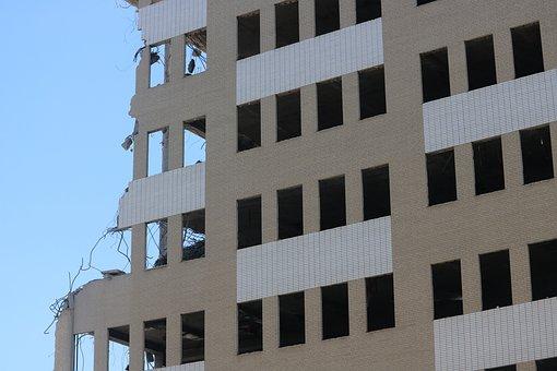 Demolition, Building, City, History, Work, Brick