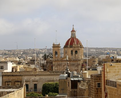 Rooftop, Church, Malta, Gozo, Victoria, Architecture