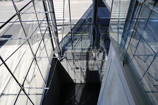 Airport, Cologne, Glass, Window, Corridor, Cologne Bonn