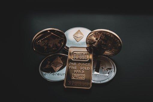 Cryptocurrency, Concept, Blockchain, Bitcoin, Money