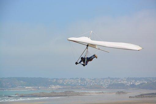 Delta-plane, Free Flight, Blue Sky, Aircraft, Normandy