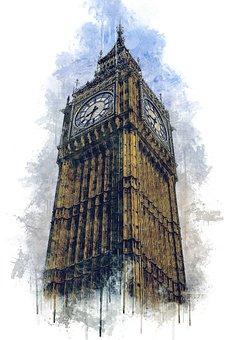 London, Big Ben, Elisabeth Tower, United Kingdom