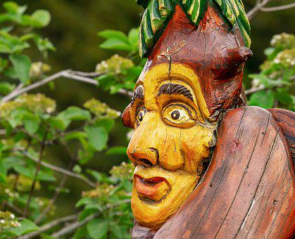 Sculpture, Wood, Face, Art, Holzfigur, Carving, Figure
