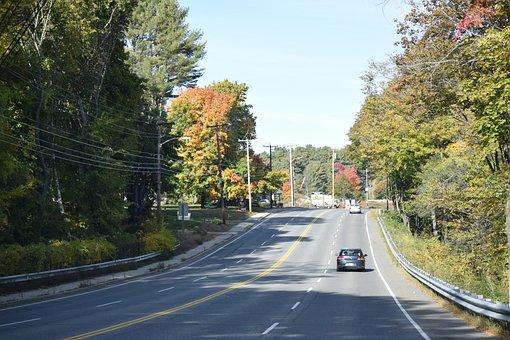 Fall, Roads, Highway, Asphalt