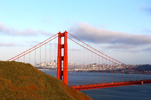 Golden Gate Bridge, San Francisco, California, Ocean