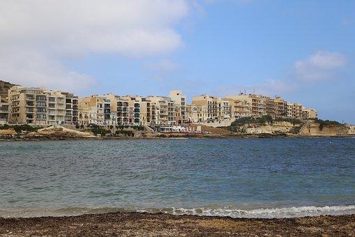 Gozo, Marsalforn, Malta, Sea, Mediterranean, Europe