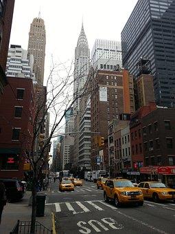 New York, Manhattan, Usa, America