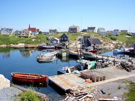 Canada, Port, Nature, Nova Scotia, Boats, Fisheries