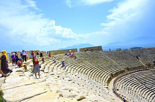 Hierapolis, Pamukkale, Denizli, Ancient, Nature, Turkey
