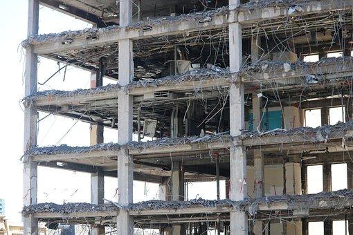 Demolition, Building, Architecture, City, Wreck, Pierre