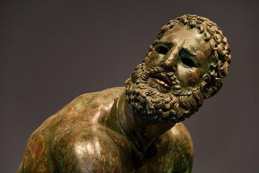 Statue, Bronze, Man, Face, Boxer, Puncher, Art