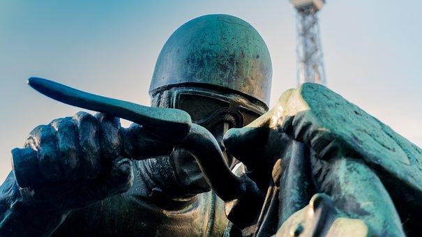 Monument, Figure, Sculpture, Race Car Driver