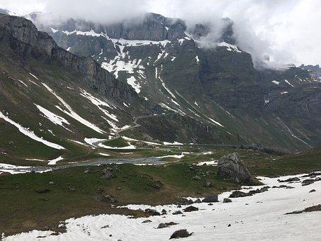 Switzerland, Klausen Pass, Pass Road, Return, Mountains