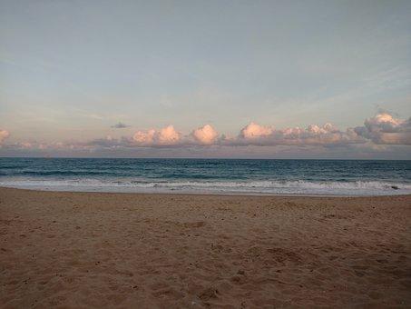 Beach, Maracaipe, Sunset, Summer, Ocean, Eventide