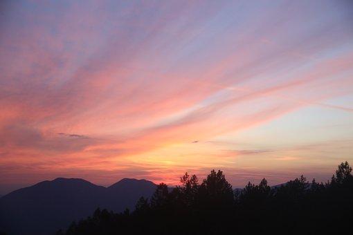 Sunset, Sun, Horizon, Nature, Sky, Sunlight, Sunny