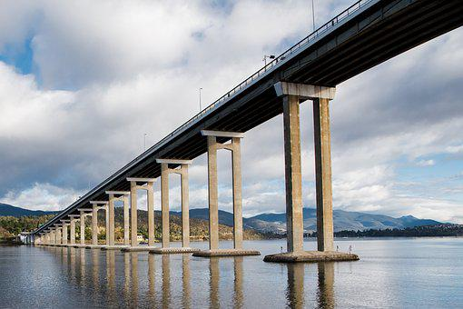 Tasman Bridge, Derwent River, Hobart, Tasmania, Bridge