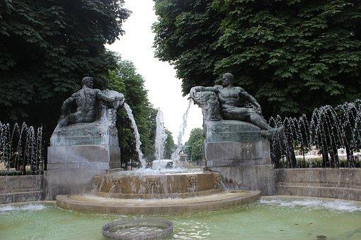 Torino, Turin, Fountain, Sculpture