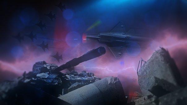 War, Panzer, Jets, Weapons, Military, Debris