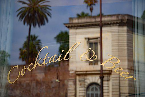 Bar, Café, Mediterranean, Window, Reflection, Drink